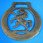 Horse Brass Rearing Horse Invicta Kent Pub Brasses