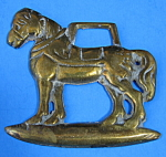 English Horse Brass Standing Draft Horse Antique Pub