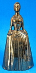 Vintage Brass Figural Bell Colonial Woman Vg