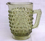 Fenton Light Green Mini Hobnail Pitcher