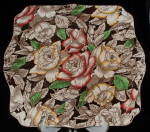 Myott Bermuda Chintz Tab Handled Cake Plate Antique