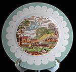 Clarice Cliff Plate Rural Scenes Royal Stafforshire