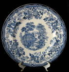 Clarice Cliff Tonquin Dinner Plate Blue Transferware