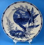 Flow Blue Aesthetic Movement Plate Ocean Scenes Transfe
