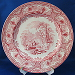 Grimwades Red Transfer Plate Genoa Landscape Pink