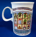 Dunoon Sue Scullard Mug Christmas Tree Windows Toys