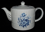 Teapot Ellgreave England Blue And White Ironstone Tea