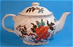 Teapot England Indian Tree Large Swirl Colorful Kent