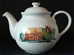 Teapot Corelle Coordinates Farm Scene Stoneware Large