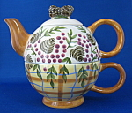 Tea For One Teapot Fitted Cup Danna Cullen Pinecones