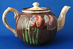Teapot Art Deco Slip Decorated Sudlows Large Floral