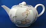 Teapot German Porcelain Pears And Blossoms Unique