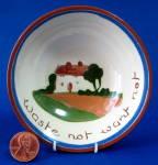 Motto Ware Dish Waste Not Want Not Dartmouth Mottoware