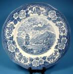 Transferware Plate Royal Warwick Blue Loch Otch England