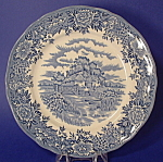 Salem English Village Blue Transferware Plate Staffs