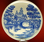 Lakeview Blue Transfer Ware Luncheon Plate Nasco