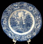Liberty Blue Staffordshire Independence Hall Plate Lrg
