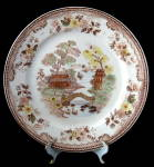 Willow Brown Transferware Dinner Plate Transfer England