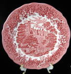 Merrie England Red Transfe Plate Meakin Haddon Hall