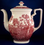 Coffeepot Red Transferware Rusticana Villeroy And Boch