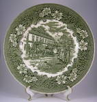 Plate Coaching Taverns Greentransferware Royal Tudor
