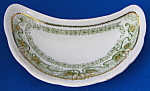 Green Transferware Bone Dish Crescent Marseilles Woods