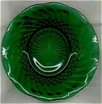 Anchor Hocking Forest Green Ruffled Bowl Glass