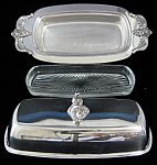 Towle Louis Philippe Butter Dish With Lid Liner Silver