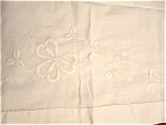 Tablecloth Antique Embroidered England White On White