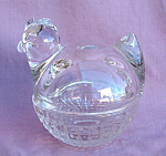 Anchor Hocking Glass Chicken Hen On A Nest