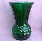 Hocking Forest Green Pineapple Vase