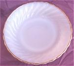 Fire-king Golden Shell Milk Glass Flat Soup Bowl