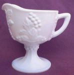 White Milk Indiana Grape & Vine Cream Pitcher