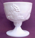 Indiana Grape & Vine Milk Glass Goblet Stem