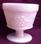 Anchor Hocking Grape & Leaf Sherbet Milk Glass