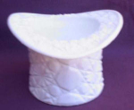 Milk Glass Daisy And Button Hat Vase