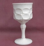 White Milk Glass Tall Goblet Wine Glass