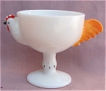 Milk Glass Chicken Sherbet Or Egg Cup