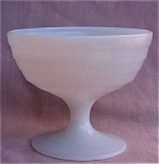 Moderntone White Milk Glass Sherbet.