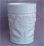 Milk Glass Daisy Innovation Tumbler.