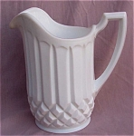 Duncan White Milk Glass 52oz. Pitcher Jug