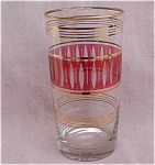 Ruby Cranberry Overlay Flashed Cut Tumbler 50's