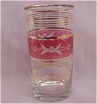 Ruby Cranberry Flashed Overlay Cut Tumbler 50's