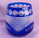 Blue Bohemian Style Flashed Glass Votive