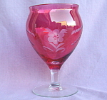 Flashed Cranberry Ruby Overlay Vase