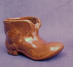 Brown Pottery Shoe Small Planter Holder