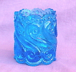 S-repeat Pattern Aqua Blue Toothpick Holder