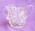 Pressed Glass 2 Handled Glass Toothpick Holder