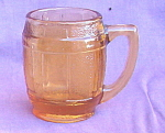 Amber Glass Barrel Mug Toothpick Holder Shot Glass