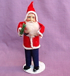 Paper Mache Santa Claus Figure Vintage Japan